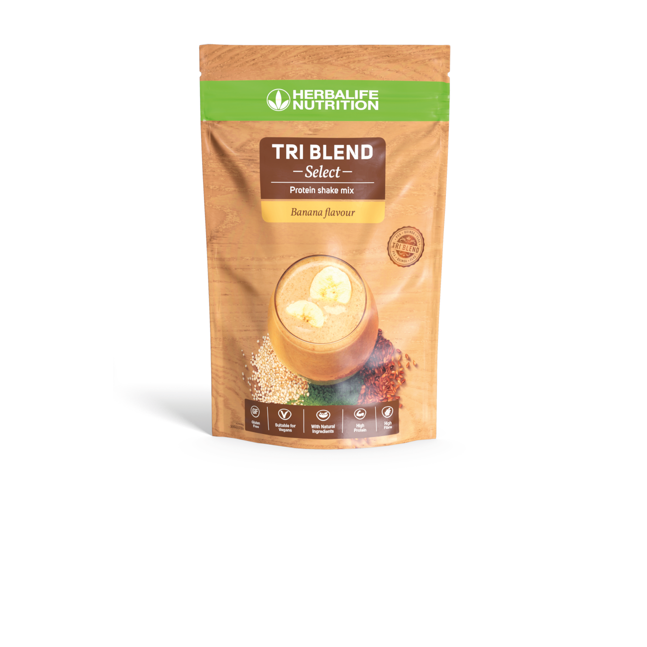Tri Blend Select Protein Shake Mix Banana Flavoured product shot