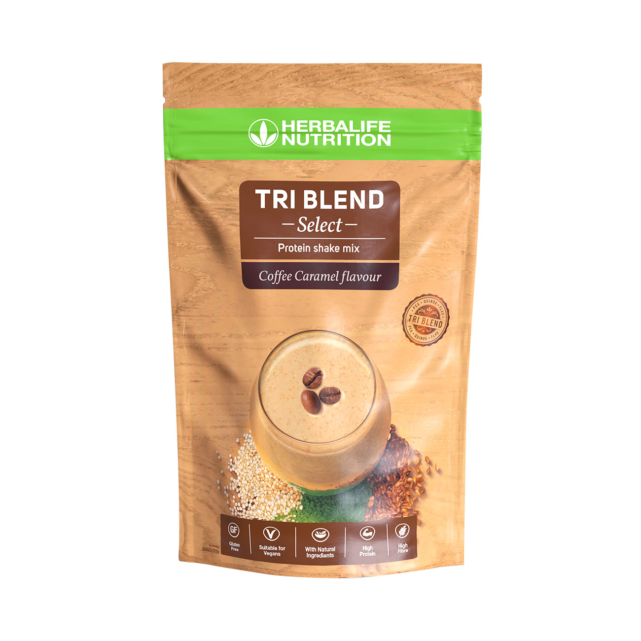 Tri Blend Select Protein Shake Mix Coffee Caramel Flavoured product shot