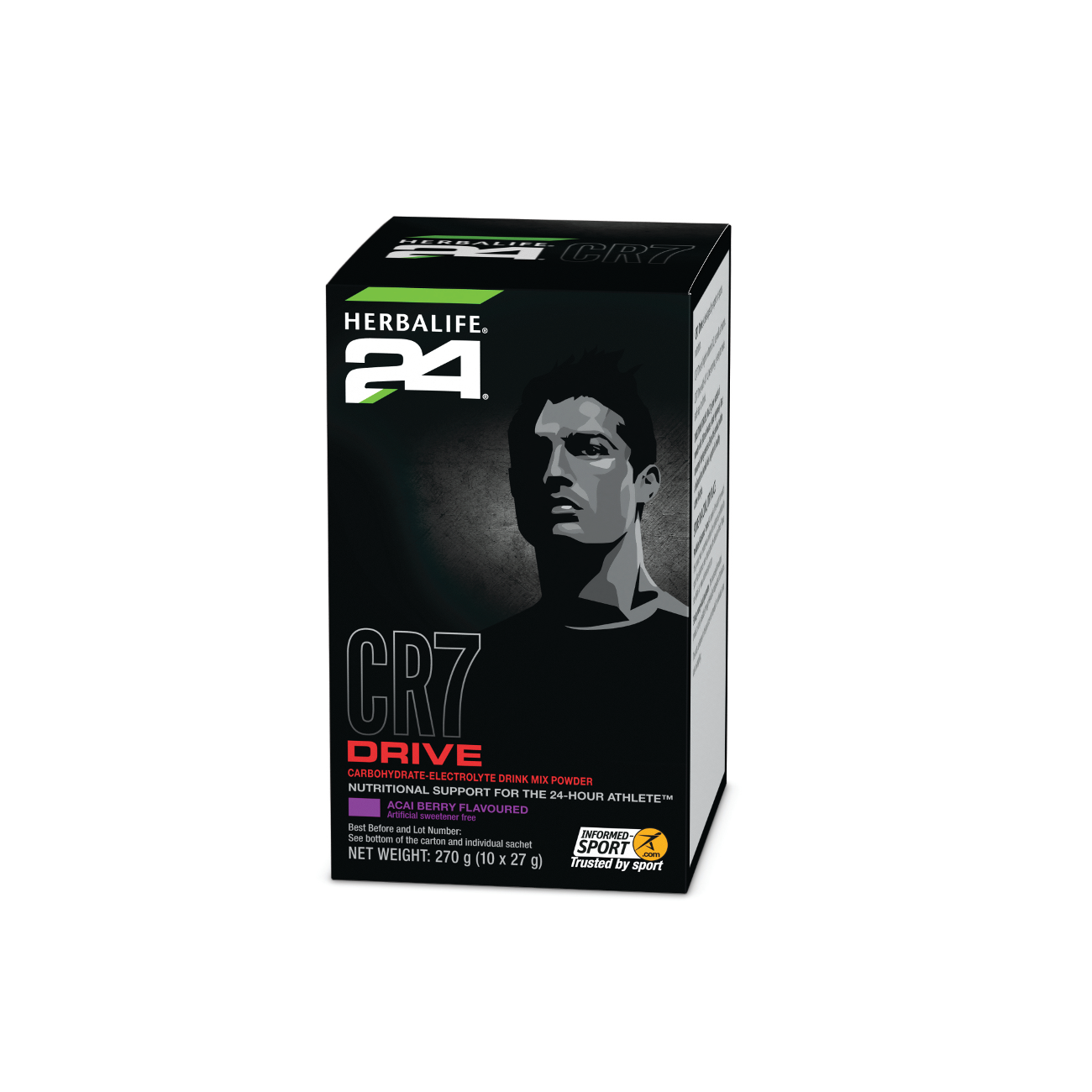Herbalife24® CR7 Drive Carbohydrate-Electrolyte Drink Mix Acai Berry Flavoured 10 g product shot