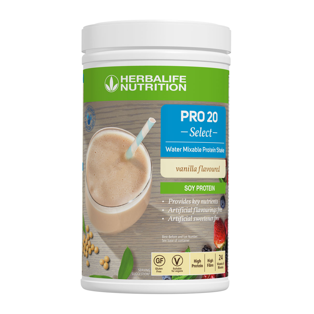 PRO 20 Select Water Mixable Protein Shake Vanilla Flavoured product shot