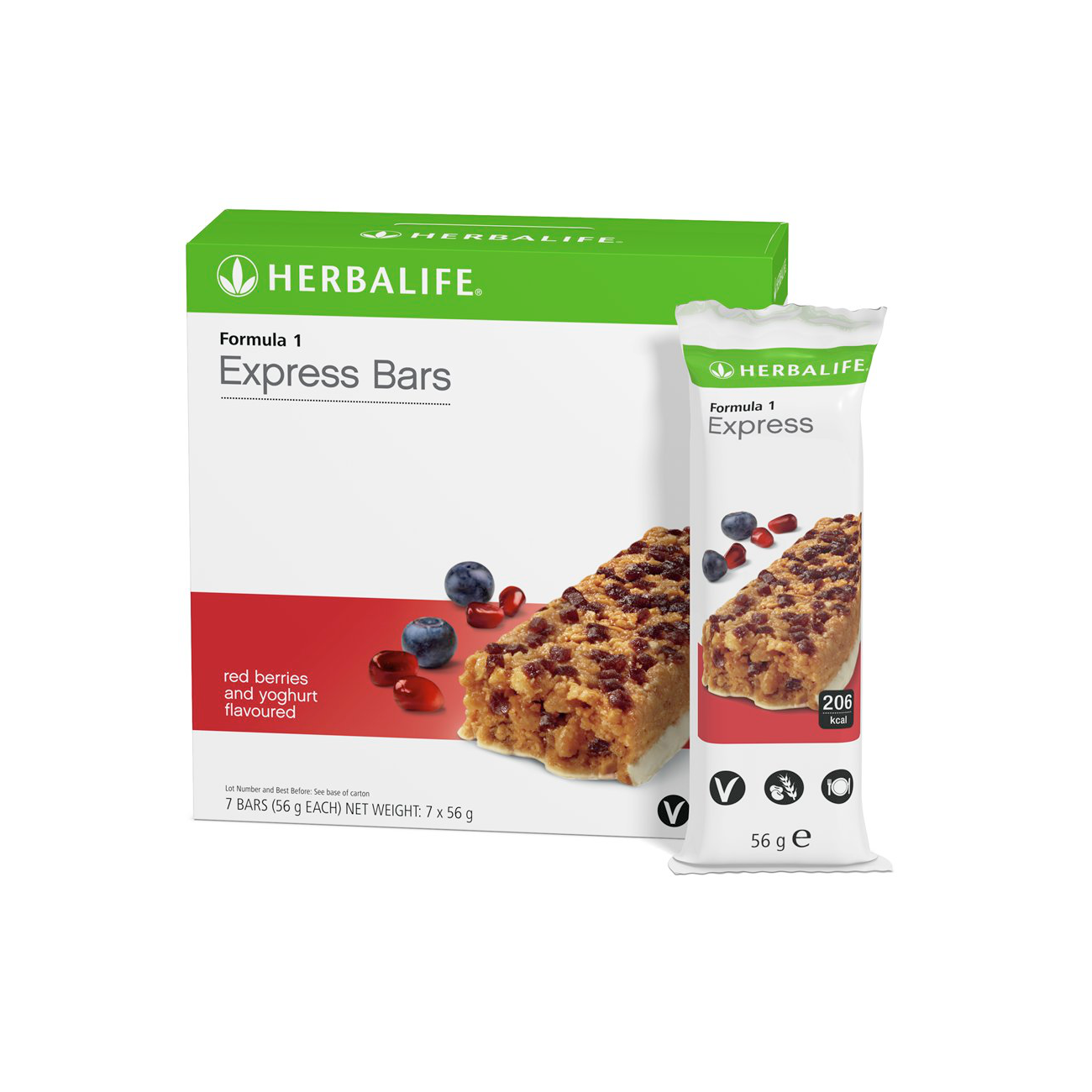 Formula 1 Express Bars  Red Berries and Yoghurt Flavoured product shot