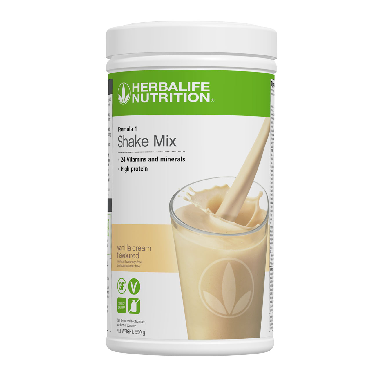Formula 1 Shake Mix Vanilla Cream Flavoured 550 g product shot
