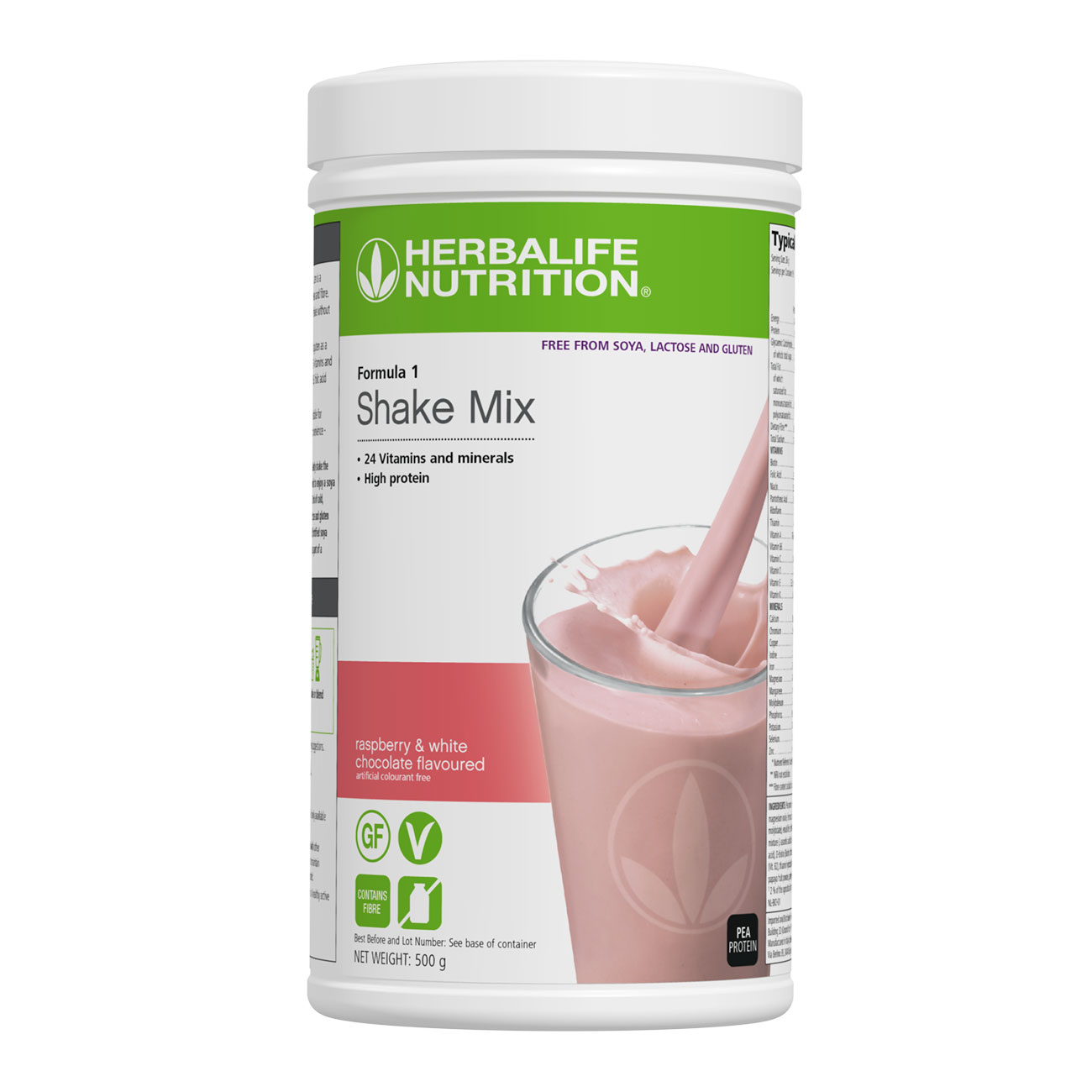 Formula 1 Free-From Shake Mix Raspberry and White Chocolate Flavoured product shot